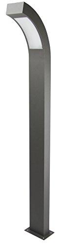 HEITRONIC Aluminium LED Standleuchte ARONDE Außenleuchte Wegleuchte schwarz Gartenleuchte neutralweiß, 4000 Kelvin