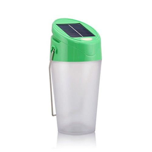 LT&NT Solar Laterne nachtlicht Schreibtisch Lampe Outdoor wasserdicht Laterne LED Wasser Tasse Lampen Zelt Camping Beleuchtung Notbeleuchtung (grün)