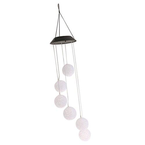 Baoblaze LED Solar Leuchte Windspiel Flur Garten Außen Deko Farbwechsel Hänge Lampe - Bälle