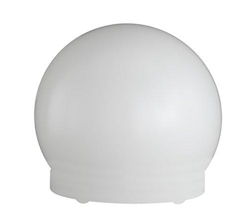 WOFI Tischleuchte, Energieeffizenzklasse geeignet für Leuchtmittel der EEK A++ bis E, Kunststoff-Kugel inklusive Erdspieß, 1-flammig, Serie Lua, 1 x E27, 60 W, 250 V, Durchmesser 40 cm, weiß 8308.01.06.0400
