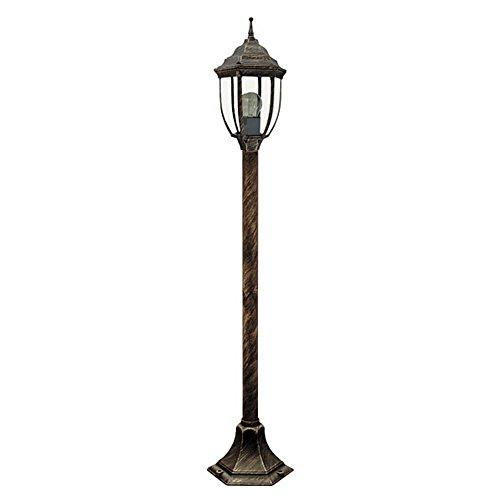 Außen Stehleuchte Stehlampe in antik aus Aluguss E27 230V Wegeleuchte Weglampe Beleuchtung Hof Garten Aussen