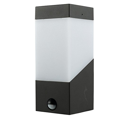 Heitronic Sensor-Wandleuchte mit PIR-Bewegungsmelder, E27-Fassung