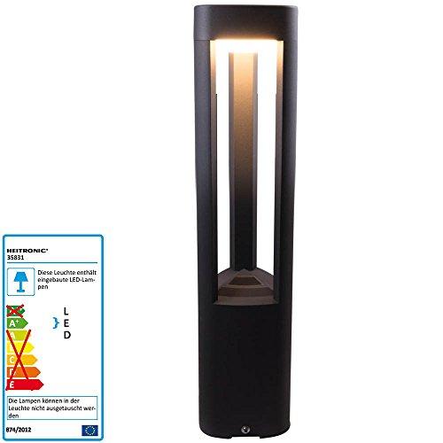 LED Sockelleuchte Maryland 6 Watt schwarz Lichtfarbe warmweiß 3000 Kelvin