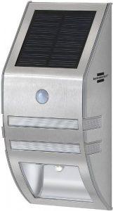 Brennenstuhl 1170780 Solar LED Wandleuchte SOL WL 02007 incl. Gratis Carmesin Stableuchte