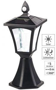 Royal Gardineer Lampen: Solar-LED-Standleuchte, PIR-Sensor, Dämmerungssensor, 100 lm, IP44 (Steh-Lampen)