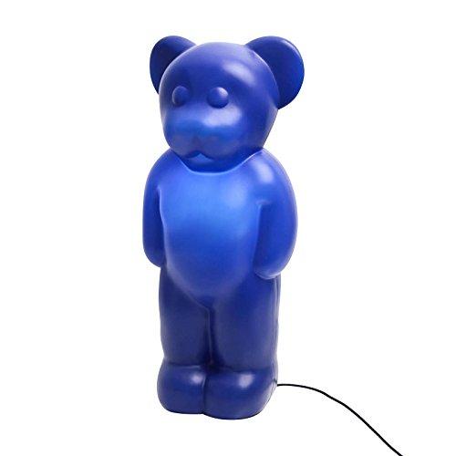 Authentics Lumibär Outdoor-Leuchte für Kinder, blau Polyethylen H 58cm