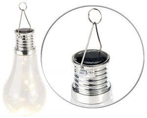 Lunartec Solarbirne: Solar-LED-Lampe in Glühbirnen-Form, 3 warmweiße LEDs, 2 lm, 0,024 W (Solar Hängeleuchte Glühbirne)