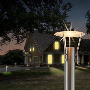MAXKOMFORT® Wegeleuchte Aussenleuchte Standleuchte Standlampe Gartenleuchte Edelstahl GU10 242-500