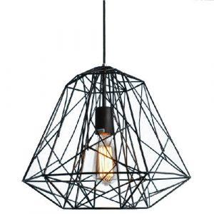 Ouku Hive-Anhänger, ein Licht, Kreativ-Schwarz-Eisen-Malerei Pendelleuchten – Inklusive Glühbirne – Vintage/Retro – Wohnzimmer/Schlafzimmer/Esszimmer/Eingangsraum/Korridor/Garage
