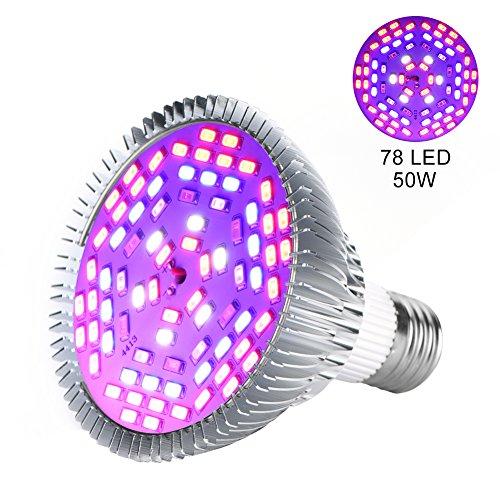 LED-Pflanzenlampe 30W, 50W, 80W, E27, Lampe für das Wachstum von Pflanzen, Gartenbau, Leuchtmittel für Garten 50w