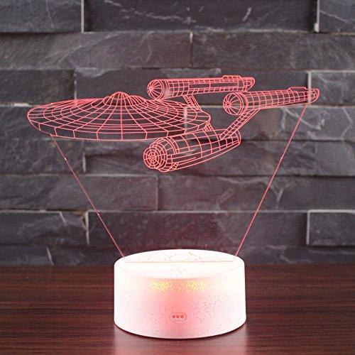 LED Nachtlicht Beleuchtung, TechCode® Individualität 3D Kunstskulptur Kreative Dekorative Nachtlicht LED Tischleuchte Romantische Freunde Geschenke Versenden (A23)