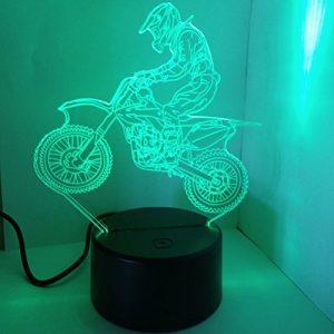 LEDMOMO 3D-Lampe Sichtlicht Touch-Schalter Bunte Nachtlicht mit Fernbedienung