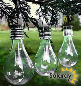 Solaray Dekorative Gartenlichter Solar-Glühlampe, 3er-Pack