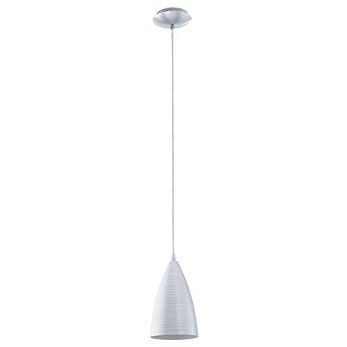EGLO 92809 Pendelleuchte, Aluminium, E27, silber