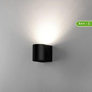 Wandleuchte Aussenleuchte Außenlampe Wandlampe Aussenlampe Schwarz LED 1267A1