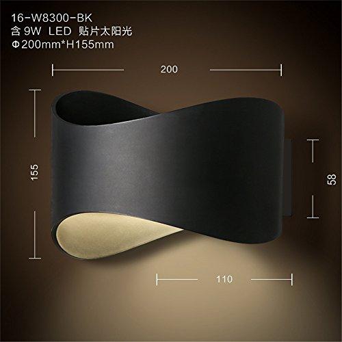 YU-K Minimalistischen Schlafzimmer Nachttischlampe Wandleuchte personalisierte Wohnzimmer Wand Lampen die Straße Flur Studie Wandleuchte Wandleuchte über dem Bett, Balkon led Wandleuchten bad Wandleuchten