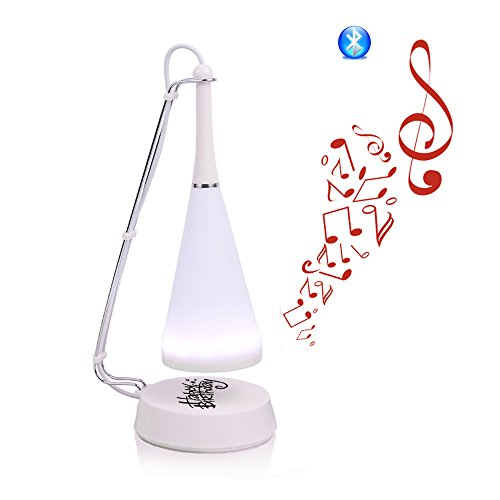liwuyou Mini Multi Wireless Bluetooth Lautsprecher Touch Sensor LED Taschenlampe verstellbare Leselampe Schreibtisch Lampe Nachtlicht, plastik, Herzlichen Glückwunsch zum Geburtstag, Bluetooth Style