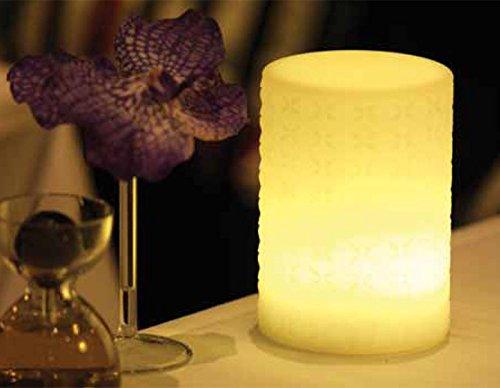 Imagilights Shadow LED Tischlampe, 24 Farben mit Farbwechsel, Kerzenmodi, Höhe ca. 15 cm, Durchmesser ca. 10 cm, rund, kabellos, mit Akku, inklusive Ladegerät, wasserdicht, stoßfest