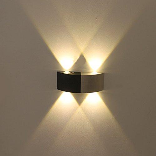 LED-Beleuchtung Lampe Schlafzimmer Nachttischlampe einfache moderne und kreative Treppen Vier weißes Licht Wandleuchten