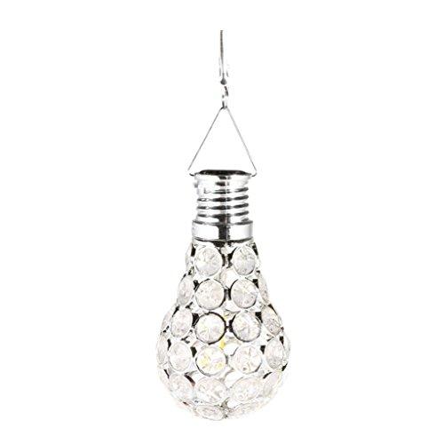 Wandleuchte--sunshineBoby Wasserdichter drehbarer Garten-kampierende hängende LED Licht-Lampen-Birnen-im Freien--Solar Lichterkette Sensor-Licht-Birnen mit Selbstschalter im Freien / Innen-LED-Beleuchtungs-Lampe für Portal-Haustür-Garage Keller (Silber, 11X6X6cm)