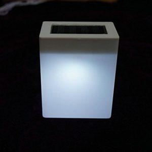 masrin Außenwand Solarbetriebene Garten Wandleuchten Zaun Lampe Camping Lampe Bar Tischlampe (kaltes Licht)
