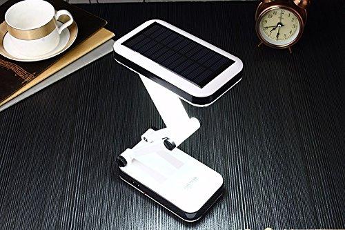 [Lampe Solar] Desktop-wiederaufladbar, faltbar und verstellbar mit 24LED Energiesparende, Hohe Effizienz und lange Lebensdauer–Betriebsdauer von 5Stunden–mit zwei-Modus arbeitet.