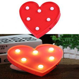 finoki Lichter dekorative, LED dekorativen Lampen Licht-Nuit De Weihnachtsdekoration, L'amour de petite