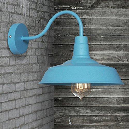YU-K Elegante und einfache Wand leuchten Wohnzimmer Schlafzimmer Wand lampe Nachttischlampe Wandleuchte Wandleuchte Loft Restaurant industrielle Treppe Aluminium Wandleuchte Wandleuchte Braun von der Straße Flur Studie Wandleuchte Wandleuchte, blau