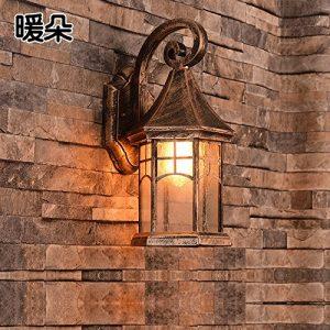 YU-K Minimalistischen Schlafzimmer Nachttischlampe Wandleuchte moderne Wohnzimmer Wandleuchten Wandleuchten Hyun Studie von der Straße Flur Wandleuchten Außen-Wandleuchten Wandleuchten Innenhof wasserdicht Lampen Wandleuchten Wandleuchten Wandleuchten home Villa, Schwarz keine optische Quelle