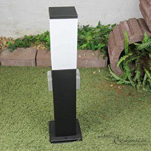 Moderne Standleuchte in Weiss inkl. 1x 12W E27 LED 230V Stehleuchte aus Kunststoff & Metall Stehlampe für Garten/Terrasse Garten Weg Terrasse Lampe Leuchten außen