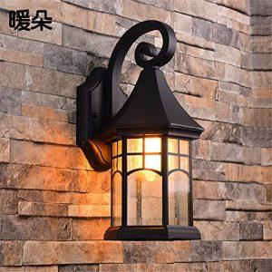 YU-K Antike Edison Industrial Style Wand Lampen Retro Außen-Wandleuchten wasserdichte Outdoor kreative Terrasse lichter Balkon Treppe Wandleuchte ist für Terrasse Garten Außenleuchten Outdoor Terrasse Zaun wasserdicht Licht ideal