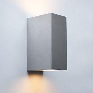 Aussenleuchte 1268 up&down 2x GU10 Fassung Wandleuchte Aussenwandlampe Wandlampe Aussenwandleuchte Edelstahl (LED 5W Warmweiß)