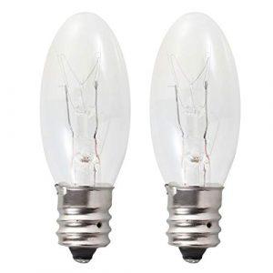 Uonlytech 2 stücke Salz Lampe Lampen Langlebig 15 Watt E12 Sockel Warmlicht Kandelaber Lampe
