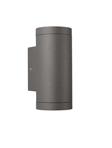 GU10 Außen Wandleuchte - Aluminium Anthrazit Doppelflutig für LED oder Halogen Leuchtmittel Up & Down light