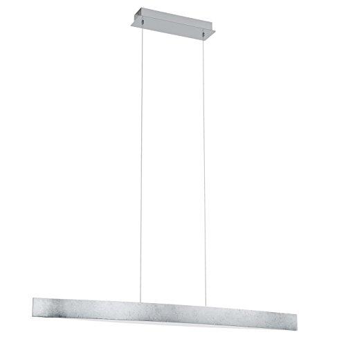 EGLO 93339 A, Hängeleuchte, Stahl, Integriert, Silber/Weiß, 97 x 8.5 x 110 cm