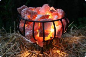 Salzlampe Feuerkorb 3-4kg