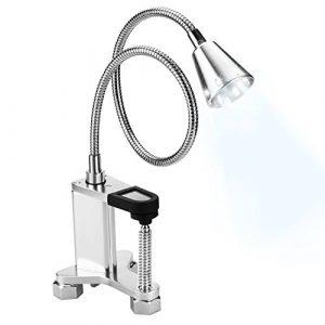 AGPTEK BBQ Grill Lampe, Wasserdichte Grill Leuchte mit 12 LEDs, batteriebetriebene Schreibtischlampe, Magnetfuß & justierbare Schraubklemme, Robustes Premium Grill Licht aus Aluminium für Grillen