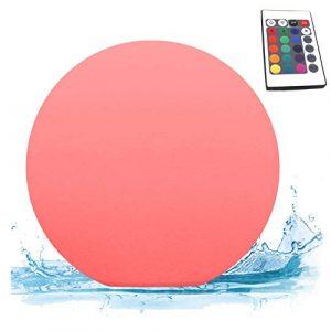 PK Green LED Schwimmkugel Pool Erstklassig | Kugel Wasserdicht IP67 für Garten, Außen, Outdoor, Teich | Tischlampe Rund mit Farbwechsel, Fernbedienung | Außenleuchte Gartenlampe Poollampe Schwimmend