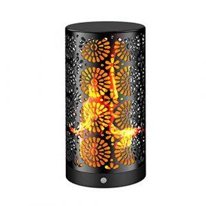 LED Flamme Wirkung Licht Wiederaufladbare Flamme Licht kleine Tischlampe Flicker Flame Glühbirnen Nachtlichter mit Magnetfuß Dekoration für Party Weihnachten Holiday Bar Zähler (1 Pack)