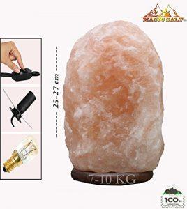 Magic Salt ® Salz Lampe Salz lampe Kristall Lampe Bosalla pezial Leuchtmittel südlich vom Himalaya EU Elektrischer Anschluss Cable atenuador (7-9 kg Lamp)
