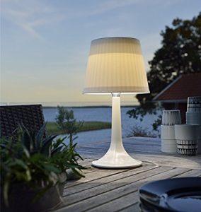LED Solar Tischlampe Schreibtisch Lampe Weiß Nacht Licht Outdoor Dekorativ Tisch Beleuchtung, plastik, weiß 0.50W 1.20V