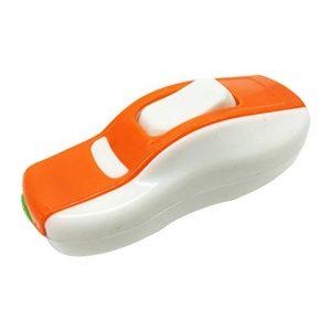 Hemore 3 Stück Kunststoff EIN/Aus-Knopf Inline Schnurschalter Schiffstyp Durchgangschalter für Schreibtischlampe, Spiegellampe, Wandleuchte, Orange