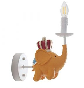 LFMHSH-wall lamp Wandlampe Cartoon Elefant Kinder Lampe American Kinder Haus Wand Lampe Junge MäDchen Nachttischlampe DIY Lampe Beleuchtung E14