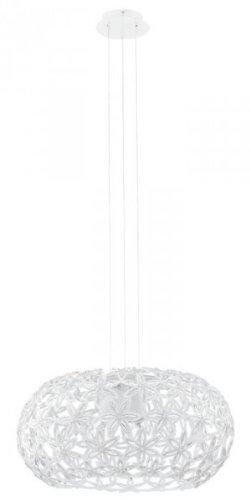 EGLO Pendelleuchte, Aluminium, E27, Transparent