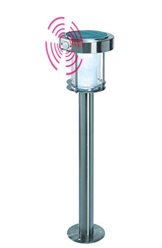 Solar Wegeleuchte Ancona Professional Duo color, warmweißes & kaltweißes Licht umschaltbar, mit Bewegungsmelder und hochwertigem Echtglas-Solarmodul, 2 Lichtstufen, esotec 102534