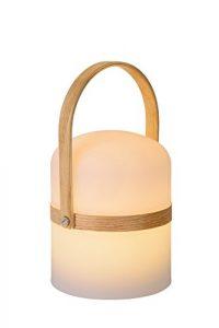 Lucide Joe-Tischlampe Außen-Durchmesser 14,5 cm-LEDDim. -1X3W 2800K-IP44, Textur, Integriert, 3 W, weiß, 14.5 x 14.5 x 26.5 cm