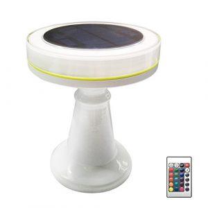 Waroomss Solar LED Licht, Neue PC + ABS Bar Esstisch Licht KTV Hotel Schreibtischlampe Ladetisch LED Schreibtischlampe für Nachttisch, KTV, Bar Theke