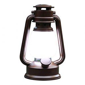 PK Green LED Laterne Batteriebetrieben Hängend | Weißes Licht | Sturmlaterne Dekolampe Tischleuchte | Lichtobjekt Effektlampe Vintage Retro | Tischlampe Gartenlaterne Deko, Außen, Outdoor, Innen