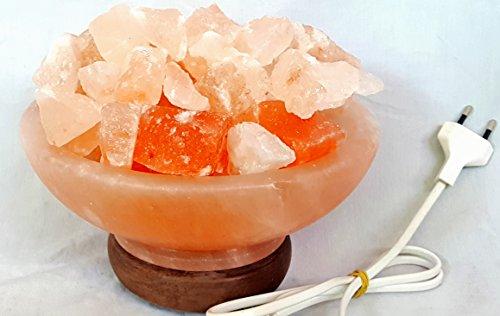 Artigianato Salz Lampe Salzkristall Himalaya Feuerschale von Feuer groß Durchmesser 20cm, mit Echtheitszertifikat