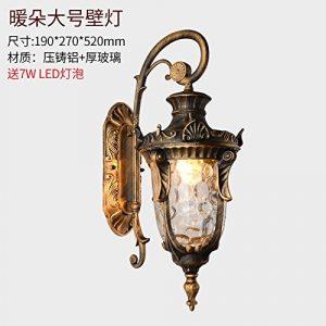 YU-K Antike Edison,IndustrieausführungWasserdichte Outdoor GarteRaseHof Licht Lampe garteWand pol LampeWand für Terrasse GarteAußenOutdoor Terrasse Zauwasserdicht Licht ideal ist